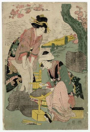 Kitagawa Utamaro: Women Making Roof Tiles - Museum of Fine Arts