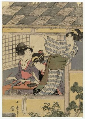 喜多川歌麿: Preparing for the Tanabata Festival - ボストン美術館