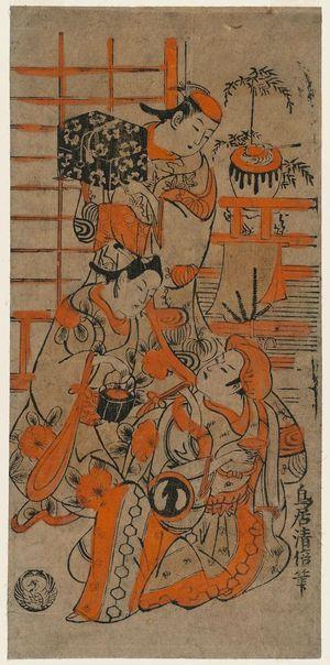 Torii Kiyomasu II: Actor Sawamura Sôjûrô I and others - Museum of Fine Arts