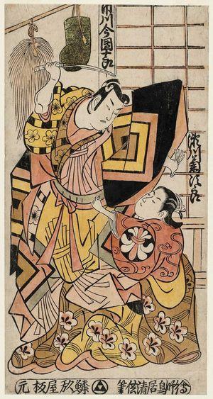鳥居清倍: Actors Ichikawa Danjûrô and Segawa Kikujirô - ボストン美術館