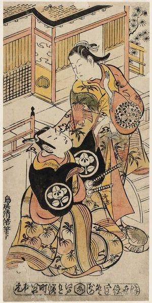 Torii Kiyomasu II: Actors Ogino Isaburô and Ichimura Takenojô - Museum of Fine Arts
