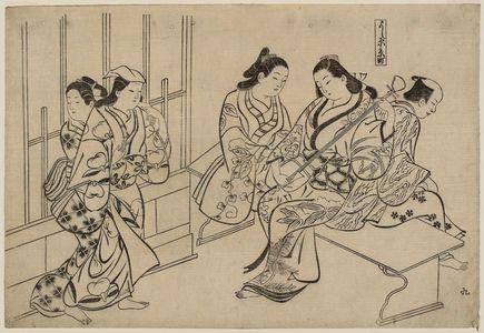 奥村政信: Kyô-machi in the Yoshiwara (Yoshiwara Kyô-machi), No. 9 from an untitled series of a visit to the Yoshiwara (known as Series L) - ボストン美術館