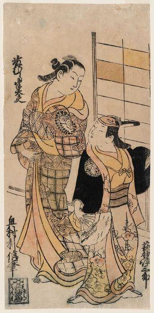 Okumura Toshinobu: Actors Fujimura Handayû and Ogino Isaburô - Museum of Fine Arts