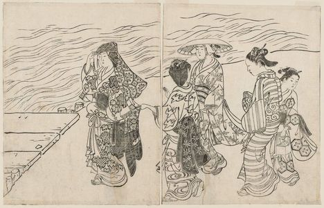 Nishikawa Sukenobu: Ehon Tokiwa Gusa At the Water Side - Museum of Fine Arts