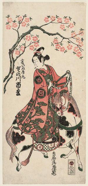 Torii Kiyohiro: Actor Sanogawa Ichimatsu as Kudô Inufusamaru - Museum of Fine Arts