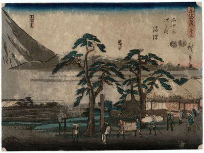 Utagawa Hiroshige: No. 13 - Numazu: The Ashigara Mountains and the Foot of Mt. Fuji (Ashigarayama, Fuji no suso), from the series The Tôkaidô Road - The Fifty-three Stations (Tôkaidô - Gojûsan tsugi no uchi) - Museum of Fine Arts