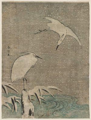 鈴木春信: Herons in Snow - ボストン美術館