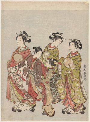 鈴木春信: Courtesan and Attendants on Parade - ボストン美術館