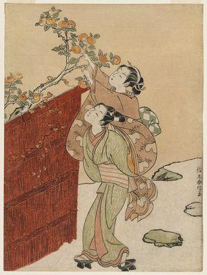 Suzuki Harunobu: The Persimmon Gatherers - Museum of Fine Arts