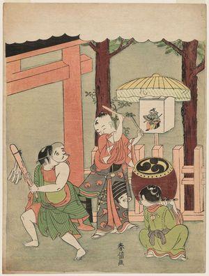 鈴木春信: Children's Dance at the Inari Festival - ボストン美術館
