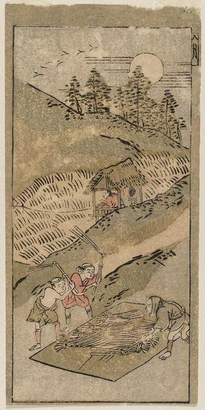 鈴木春信: The Eighth Month (Hachigatsu), from an untitled series of Twelve Months - ボストン美術館