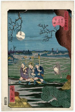 歌川広景: No. 3, Strange Events at Tomonoura in Asakusa (Asakusa Tomonoura no kikai), from the series Comical Views of Famous Places in Edo (Edo meisho dôke zukushi) - ボストン美術館