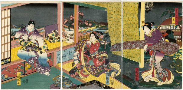 Utagawa Kuniteru: Flowers (Hana), from the series Snow, Moon, and Flowers (Setsugekka no uchi) - Museum of Fine Arts