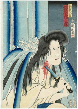豊原国周: Actor Bandô Hikosaburô as the Wetnurse Otsuji - ボストン美術館