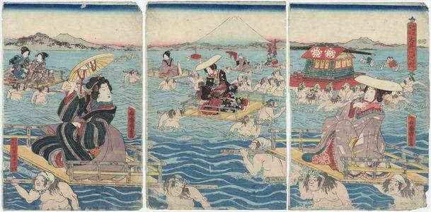 二代歌川国貞: Oi River - ボストン美術館