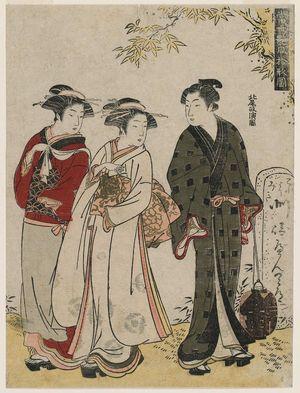 Kitao Masanobu: from the series Ten Patterns of Alluring Matches in the Modern World (Tôsei tsuya awase jûgata no zu) - ボストン美術館