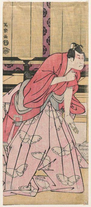 Toshusai Sharaku: Actor Ichikawa Danjûrô VI as Soga no Gorô Tokimune - Museum of Fine Arts