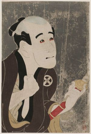 Toshusai Sharaku: Actor Ôtani Tokuji as the Manservant Sodesuke - Museum of Fine Arts