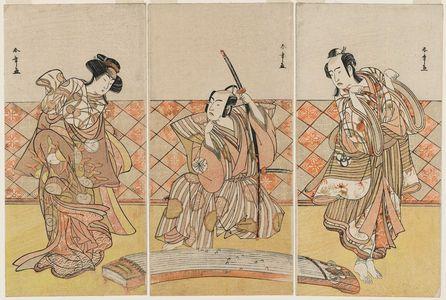 Katsukawa Shunsho: Actors in a Scene from Shosa - Museum of Fine Arts