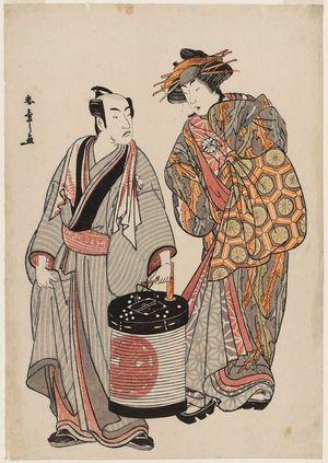Katsukawa Shunsho: Actors Matsumoto Kôshirô IV as Kameya Chubei and Segawa Kikunojô - Museum of Fine Arts
