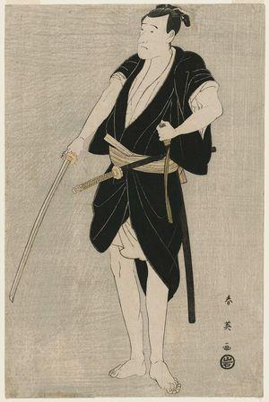 勝川春英: Actor Ichikawa Danjûrô VI as Ono Sadakurô - ボストン美術館