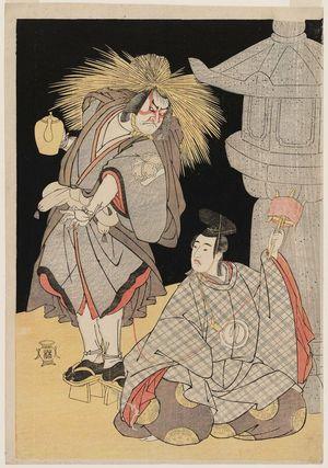 Katsukawa Shunsho: Actors Nakamura Nakazô as Kiheiji and Sawamura Sôjûrô as Shigemori - Museum of Fine Arts