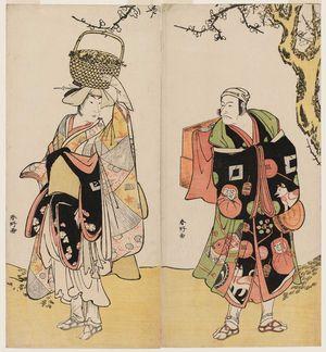 Katsukawa Shunko: Actors Ichikawa Danjûrô V (R) and Ichikawa Yaozô as Shiragiku (L) - Museum of Fine Arts