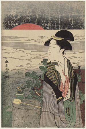 Eishosai Choki: Sunrise on New Year's Morning - Museum of Fine Arts