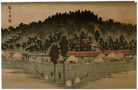 Utagawa Hiroshige: Inari Shrine at Ôji (Ôji Inari no hokora), from the series Famous Places in Edo (Kôto meisho) - Museum of Fine Arts