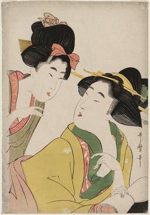 Kitagawa Utamaro: Two Women Conversing - Museum of Fine Arts