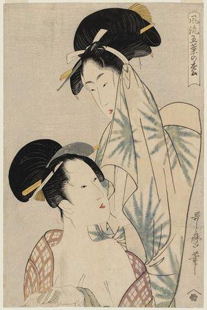 Kitagawa Utamaro: Women after the Bath, from the series Elegant Five-Needled Pine (Fûryû goyô no matsu) - Museum of Fine Arts