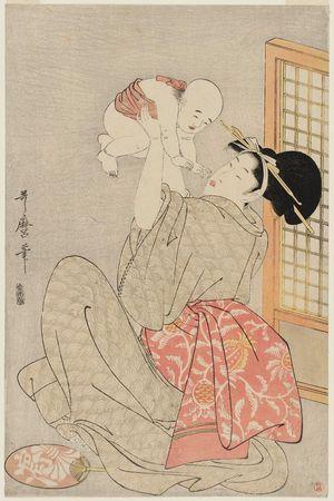 喜多川歌麿: Mother Bouncing Baby - ボストン美術館