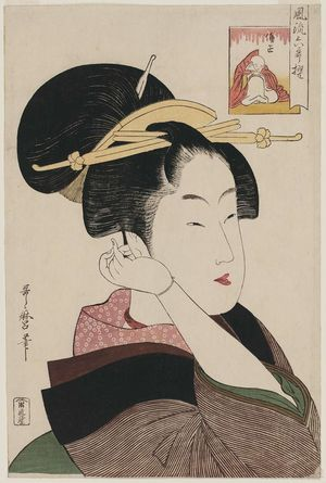Kitagawa Utamaro: Sôjô Henjô, from the series Six Selected Elegant Poems (Fûryû rokkasen) - Museum of Fine Arts