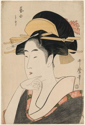 Kitagawa Utamaro: To... of the Land of Geisha (Geikuni to-jirushi) - Museum of Fine Arts
