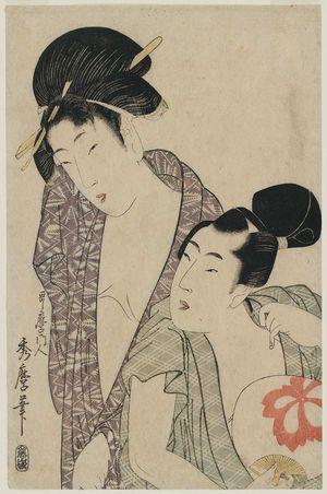 喜多川秀麿: Couple in Summer Clothing - ボストン美術館