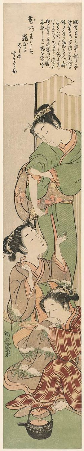 Isoda Koryusai: Three Types of Drunken Women: the Angry Drunk, the Weepy Drunk, the Giggly Drunk - Museum of Fine Arts