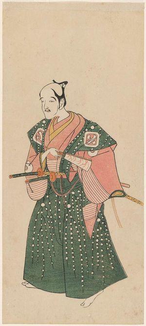 勝川春章: Actor Arashi Otohachi I - ボストン美術館