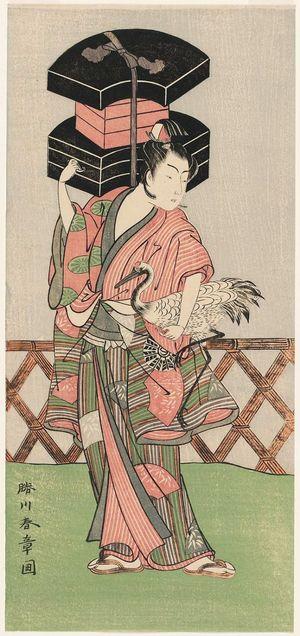 Katsukawa Shunsho: Actor Nakamura Noshio I as a Fan Vendor - Museum of Fine Arts