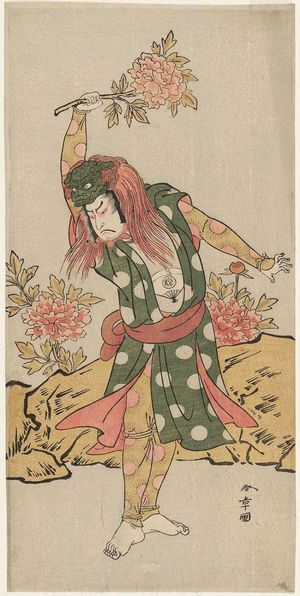Katsukawa Shunsho: Actor Onoe Matsusuke in the Lion Dance (Shakkyo) - Museum of Fine Arts