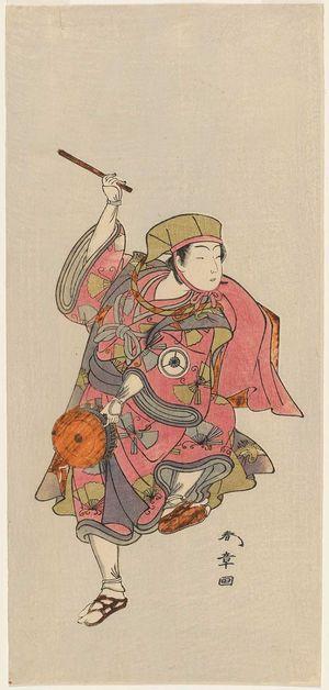 勝川春章: Actor Iwai Hanshirô IV - ボストン美術館