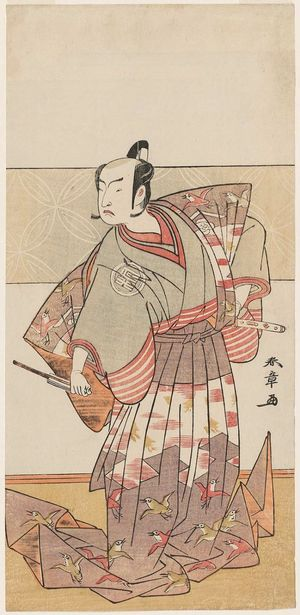 Katsukawa Shunsho: Actor Arashi Sangorô II as Soga no Jûrô Sukenari - Museum of Fine Arts