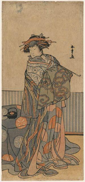 勝川春章: Actor Iwai Hanshirô as a Courtesan - ボストン美術館