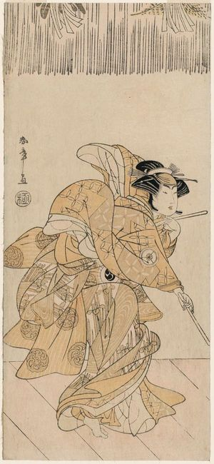 Katsukawa Shunsho: Actor Iwai Hanshirô IV as an Utô Dancer - Museum of Fine Arts