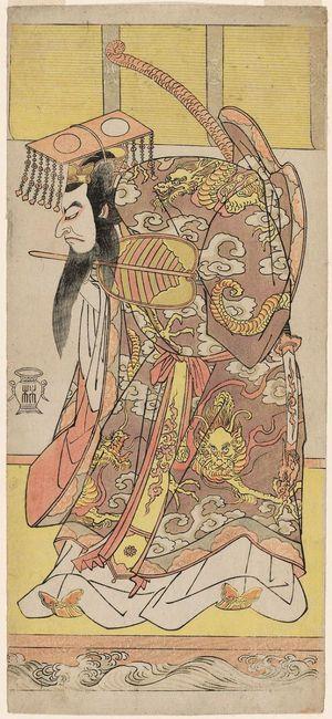 勝川春章: Actor Nakamura Nakazô I as Heishonogon Taira no Tokitada - ボストン美術館
