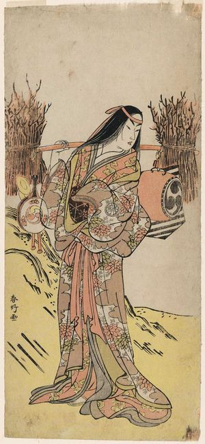 勝川春好: Actor Segawa Kikunojô III as an Oharame in a Shosa Act - ボストン美術館