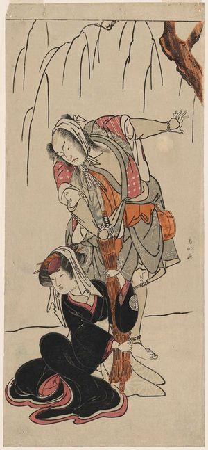 勝川春好: Actor Arashi Sangorô II and Yamashita Kinsaku II - ボストン美術館