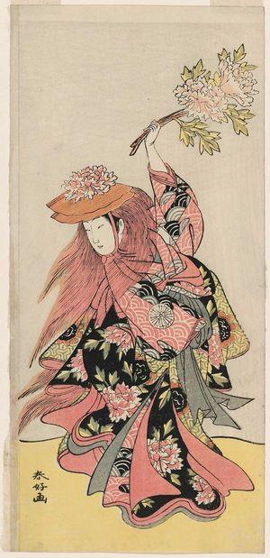 Katsukawa Shunko: Actor Nakamura Tomijûrô in the Lion Dance (Shakkyô) - Museum of Fine Arts