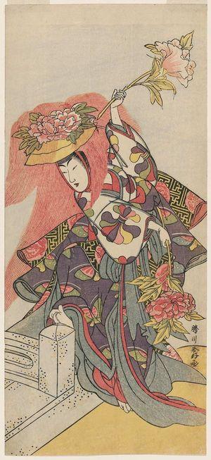 Katsukawa Shunko: Actor Segawa Kikunojô III in the Lion Dance (Shakkyô) - Museum of Fine Arts