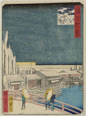 Utagawa Kunikazu: Tokifune-chô, from the series One Hundred Views of Osaka (Naniwa hyakkei) - Museum of Fine Arts