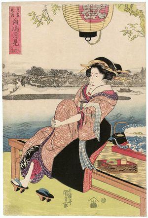 歌川国貞: Mukôjima tsukimi - ボストン美術館